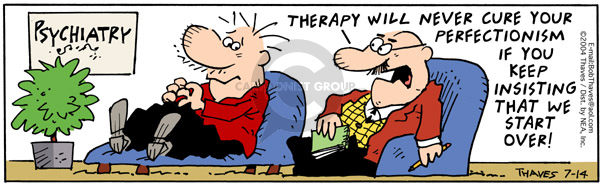 Comic Strip Bob Thaves Tom Thaves  Frank and Ernest 2004-07-14 counselor's office