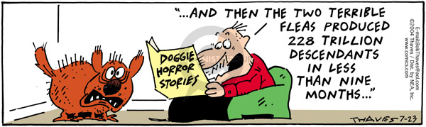 Comic Strip Bob Thaves Tom Thaves  Frank and Ernest 2004-07-23 horror