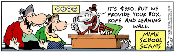 Comic Strip Bob Thaves Tom Thaves  Frank and Ernest 2004-07-26 cheat