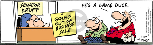Comic Strip Bob Thaves Tom Thaves  Frank and Ernest 2004-07-29 sale
