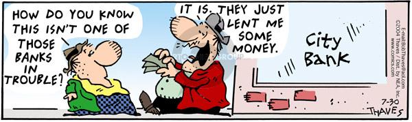 Comic Strip Bob Thaves Tom Thaves  Frank and Ernest 2004-07-30 Lent