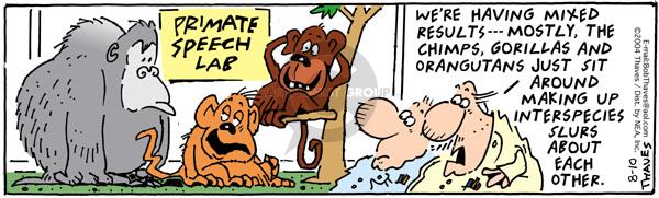 Cartoonist Bob Thaves Tom Thaves  Frank and Ernest 2004-08-10 make