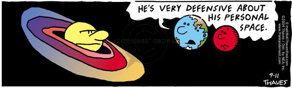 Cartoonist Bob Thaves Tom Thaves  Frank and Ernest 2004-09-11 sky