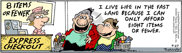 Comic Strip Bob Thaves Tom Thaves  Frank and Ernest 2004-09-27 cash