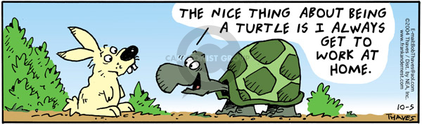 Comic Strip Bob Thaves Tom Thaves  Frank and Ernest 2004-10-05 reptile