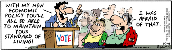 Comic Strip Bob Thaves Tom Thaves  Frank and Ernest 2004-10-06 candidate