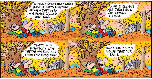 Comic Strip Bob Thaves Tom Thaves  Frank and Ernest 2004-10-17 fantasy