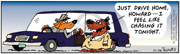 Comic Strip Bob Thaves Tom Thaves  Frank and Ernest 2004-10-26 pursuit