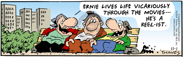 Comic Strip Bob Thaves Tom Thaves  Frank and Ernest 2004-11-01 bench