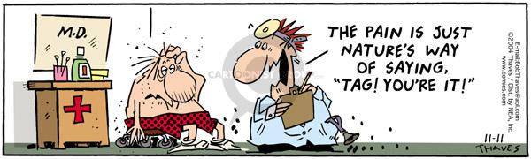 Cartoonist Bob Thaves Tom Thaves  Frank and Ernest 2004-11-11 hurt