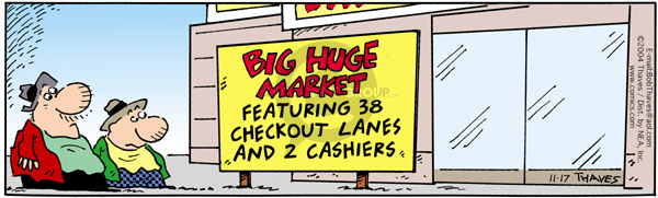 Comic Strip Bob Thaves Tom Thaves  Frank and Ernest 2004-11-17 food store
