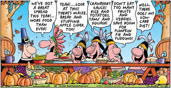 Comic Strip Bob Thaves Tom Thaves  Frank and Ernest 2004-11-21 pie