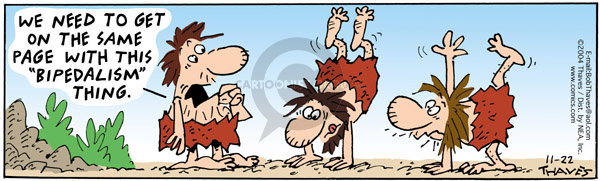 Comic Strip Bob Thaves Tom Thaves  Frank and Ernest 2004-11-22 caveman