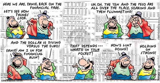 Comic Strip Bob Thaves Tom Thaves  Frank and Ernest 2004-11-28 finance