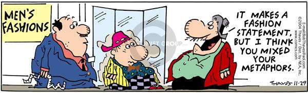 Cartoonist Bob Thaves Tom Thaves  Frank and Ernest 2004-11-29 make