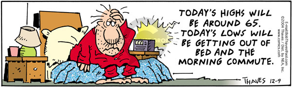 Comic Strip Bob Thaves Tom Thaves  Frank and Ernest 2004-12-09 bed