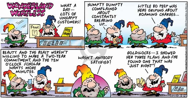 Comic Strip Bob Thaves Tom Thaves  Frank and Ernest 2004-12-12 ten minutes