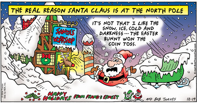 Comic Strip Bob Thaves Tom Thaves  Frank and Ernest 2004-12-19 meteorology