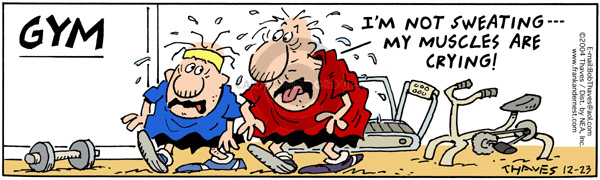 Comic Strip Bob Thaves Tom Thaves  Frank and Ernest 2004-12-23 fitness center