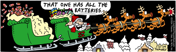 Comic Strip Bob Thaves Tom Thaves  Frank and Ernest 2004-12-24 energy