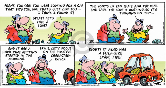 Comic Strip Bob Thaves Tom Thaves  Frank and Ernest 2004-12-26 auto body