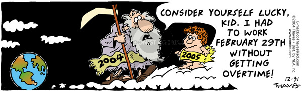 Comic Strip Bob Thaves Tom Thaves  Frank and Ernest 2004-12-31 baby new year