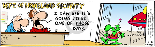 Comic Strip Bob Thaves Tom Thaves  Frank and Ernest 2005-01-06 Department of Homeland Security