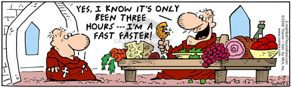 Comic Strip Bob Thaves Tom Thaves  Frank and Ernest 2005-01-07 quickly