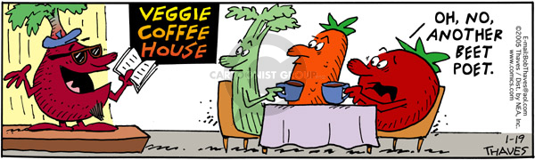 Comic Strip Bob Thaves Tom Thaves  Frank and Ernest 2005-01-19 vegetable