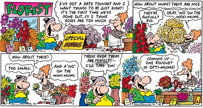 Cartoonist Bob Thaves Tom Thaves  Frank and Ernest 2005-01-23 flower shop