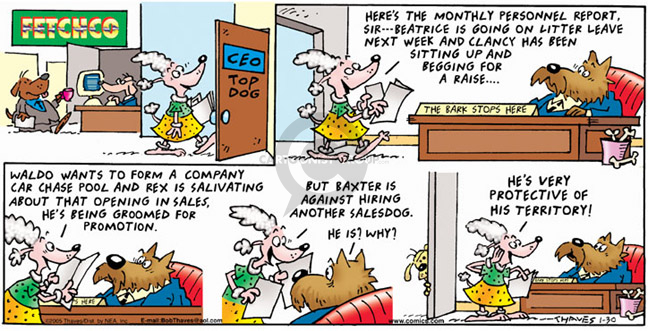 Comic Strip Bob Thaves Tom Thaves  Frank and Ernest 2005-01-30 car sales