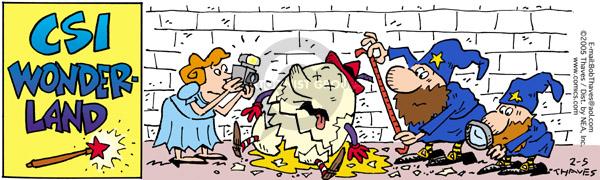 Comic Strip Bob Thaves Tom Thaves  Frank and Ernest 2005-02-05 program