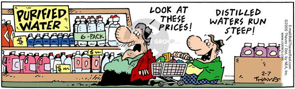 Comic Strip Bob Thaves Tom Thaves  Frank and Ernest 2005-02-07 food label