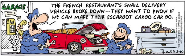 Comic Strip Bob Thaves Tom Thaves  Frank and Ernest 2005-02-10 auto mechanic
