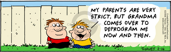 Comic Strip Bob Thaves Tom Thaves  Frank and Ernest 2005-02-16 strict