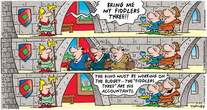 Comic Strip Bob Thaves Tom Thaves  Frank and Ernest 2005-03-20 monarchy