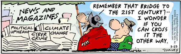 Comic Strip Bob Thaves Tom Thaves  Frank and Ernest 2005-03-23 future technology