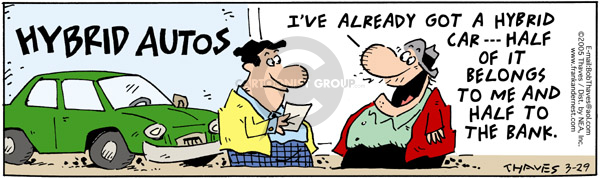 Comic Strip Bob Thaves Tom Thaves  Frank and Ernest 2005-03-29 finance