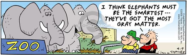 Comic Strip Bob Thaves Tom Thaves  Frank and Ernest 2005-04-09 smartest