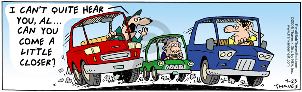 Comic Strip Bob Thaves Tom Thaves  Frank and Ernest 2005-04-23 big car