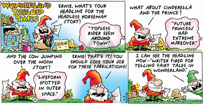 Comic Strip Bob Thaves Tom Thaves  Frank and Ernest 2005-05-08 tabloid