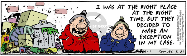 Comic Strip Bob Thaves Tom Thaves  Frank and Ernest 2005-05-21 exception