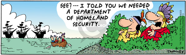 Comic Strip Bob Thaves Tom Thaves  Frank and Ernest 2005-06-14 Department of Homeland Security