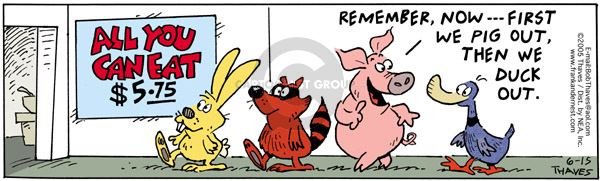 Comic Strip Bob Thaves Tom Thaves  Frank and Ernest 2005-06-15 rabbit