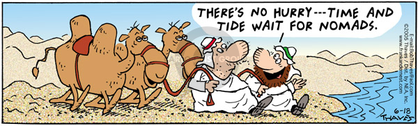 Comic Strip Bob Thaves Tom Thaves  Frank and Ernest 2005-06-18 tide