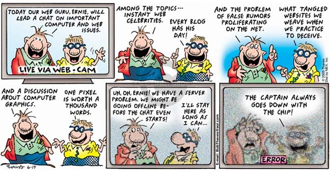 Comic Strip Bob Thaves Tom Thaves  Frank and Ernest 2005-06-19 lead to