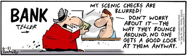 Cartoonist Bob Thaves Tom Thaves  Frank and Ernest 2005-06-21 good
