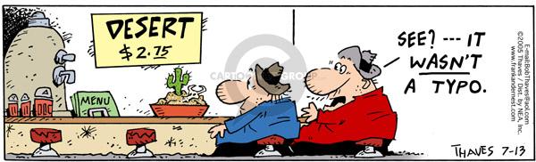 Comic Strip Bob Thaves Tom Thaves  Frank and Ernest 2005-07-13 desert