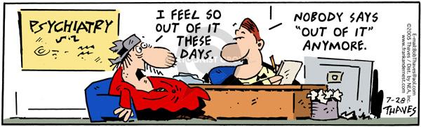 Comic Strip Bob Thaves Tom Thaves  Frank and Ernest 2005-07-28 slang