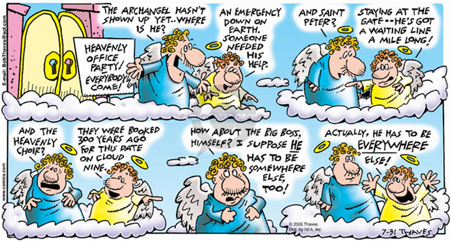 Comic Strip Bob Thaves Tom Thaves  Frank and Ernest 2005-07-31 heavenly